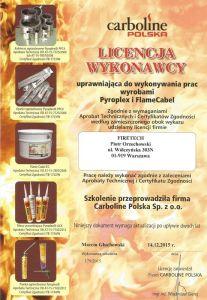 Certyfikat Carboline