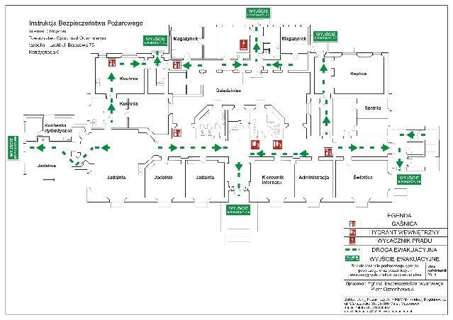 Instrukcja bezpieczeństwa pożarowego, wyjścia ewakuacyjne